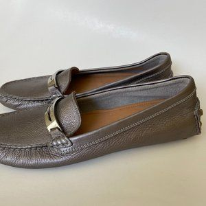 NWOT Coach Metallic Leather Loafers Size 8B
